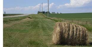roadside haybail - Iowa DOT