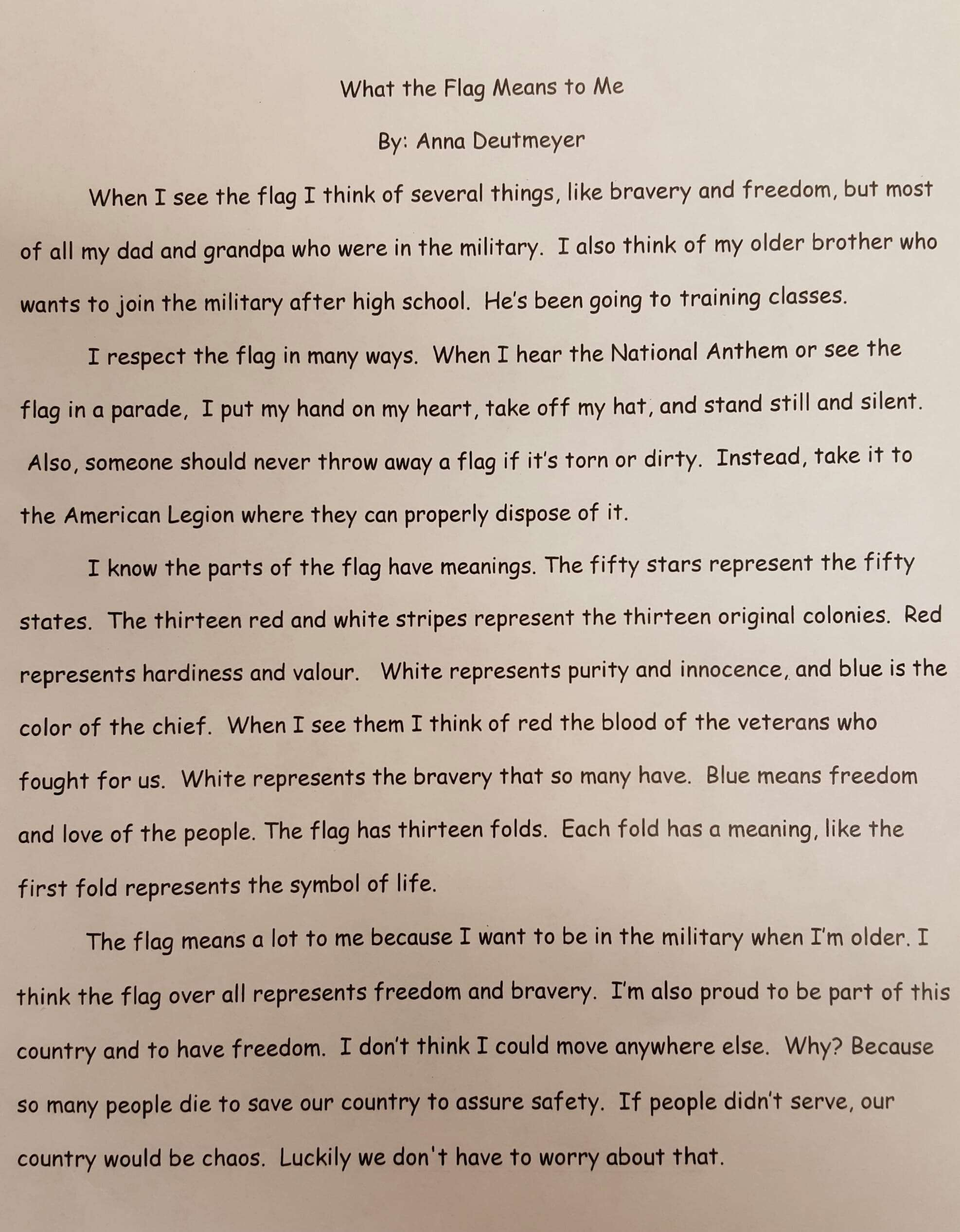 essay on bravery maquoketa valley th grader wins state flag essay maquoketa valley th grader wins state flag essay contest mix 20160321 155714 1